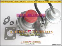 Turbocompresseur de TURBO RHF3 CK40 VA410164 1G491-17011 1G491-17012 1G491-17010 pour l'excavatrice PC56-7 de tracteur de Kubota Construction 4D87 V2403-M-T-Z3