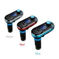 Handsfree Araba Hoparlör 3.5mm Mic Ile Kablosuz Bluetooth Araç Kiti Ses Araba Müzik Çalar AUX U Disk FM Verici
