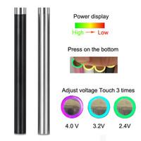 Kalın yağ vape kalem ayarlanabilir VV elektronik sigara pil ön-ısı 280 mah Mix2 piller tek kullanımlık atomizör Için seramik bobin Cam Tankı