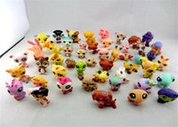 20pcs / set Little Pet Shop LPS Giocattoli Animali Cartoon Cat Dog Action Figure Raccolta giocattoli per bambini stili misti spedire casuale