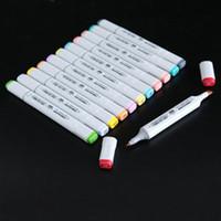 2019 Doğrudan Satış Zaman sınırlı Notlar Renkli Kalem Kroki 60 Standart Yaygın Olarak Kullanılan Finecolour İki Nesil Marker Kalem Dokunmatik Alkol Setleri