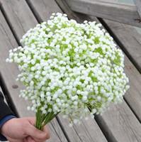 """Plastik Gypsophila 12 Adet 56 cm / 22.05 """"Uzunluk Yapay Çiçekler Yıldızlı Gypsophila bebeğin Nefes için DIY Gelin Buketi Aksesuarları"""