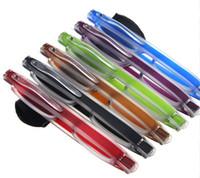 Ultra-Light Draagbare 360 Roterende Vouwen Leesbril Slank en Klem Optical Frame Mini Leesbril 10pcs / Partij Diopter + 1.00- + 4,00