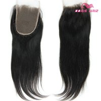 9A Brazilian human hair lace closure free part Middle Part t...