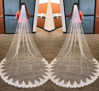 Hot Sales White Ivory 3 Meters Long Bridal Veils With Comb T...