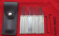 10 set / lot Locksmith Lock Picks, 12pcs Hook Picks Lock Pick Sets Sets Broken Key Tools