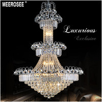 Large Hotel Silver Crystal Chandelier Light Fixture Gold or ...