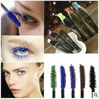 por DHL Colorido, largo, largo, curling, maquillaje de ojos, pestañas, fibra impermeable, rímel EyeLashe, cosmético, 5 colores # 71810
