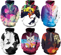 2017 Autumn Winter Men Hoodies Galaxy 3D Print Hoodies With ...