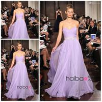 2015 neuankömmling beste verkauf schatz a line voller länge chiffon lange lila brautjungfer kleider