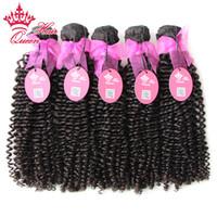 Regina capelli nessun groviglio brasiliano 100% non trasformati capelli vergini crespi ricci 10-30 pollici 500 g / lotto, top tessere capelli di bellezza