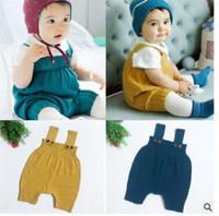 Vêtements bébé Jumpsuit nouveau-né Vêtements Vêtements Nouveau Coréen Mode Tricot Infan Oneies Mignon Spring Nouveau-né Robe Robe C2411