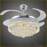 Led Deckenventilatoren Licht AC 110 V 220 V Unsichtbare Lamellen  Deckenventilatoren Moderne Ventilator Lampe Wohnzimmer Schlafzimmer