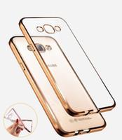 Lüks Stil Kaplama Yaldızlı TPU Yumuşak Silikon Telefon Kılıfı Kapak Için Samsung Galaxy A3 A5 A7 2016 J5 J7 Grand Neo Başbakan