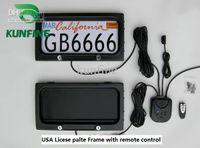 무료 배송 ! 미국 자동차 라이센스 플레이트 프레임 원격 제어 자동차 라이센스 프레임 커버 접시 privac