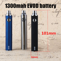 EVOD 1300mah Batterie Elektronische Zigaretten evod tanks vape stifte mods für ecigarettes ego MT3 ce4 ce5 vaporizer zerstäuber Starter kits