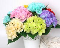 シミュレートしたハランジア、ハイジャアジサイの30枚、単一の枝のシルクの花、結婚式の花嫁を保持している花、ヒドラジャーを配置します。