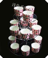 3 계층 아크릴 케이크 스탠드 / 케이크 팝 디스플레이는 나비 먹고 / 식품 디스플레이 스탠드 스탠드 스탠드