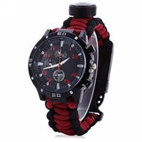 Survival Outdoor Gear Tactical Multi Survival Bracelet Watch...