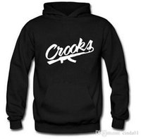 Men Sports Hoodies Fleece Warm Autumn Winter Pullovers CROOK...