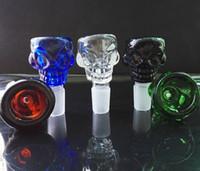 Joint en verre coloré de support d'herbe de crâne de joint 14,5mm / 19mm 7mm épais pour le tuyau d'eau en verre et les percolateurs de bongs receveur de cendre