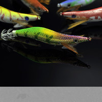 Wood Shrimp Squid Hook Top Night Glow in dark EGI Artificial...
