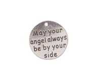 Nuovo arriva 10pcs argento anticato che il tuo angelo sia sempre al tuo fianco di charms di metallo # 92008