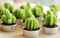 60pcs mariage faveurs fête cadeaux de valentine douche cactus bougie décoration
