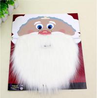 Natale Santa Bianco Fake Barba Baffi baffi Unisex Fancy Dress Xmas Cosplay Party Puntelli di scena