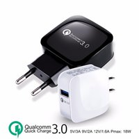 QC3. 0 12V 9V 5V Quick wall charger Adapter EU US fast charge...