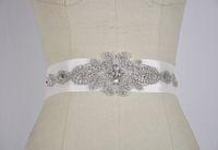 Новейший регулируемый размер белый кристалл бисером свадебные пояса для невест стразы пояса свадебный аксессуар на заказ