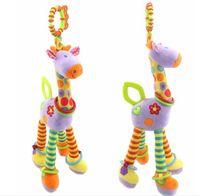 37cm Zürafa Etkinlik Spiral bebek yatağı arabası asılı oyuncaklar bebek arabası peluş oyuncak bebek hediye ücretsiz nakliye