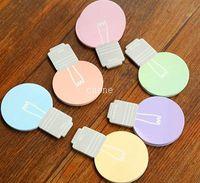 Nota pegajosa do bulbo de lâmpada bonito. (3 unidades / pacote), bloco de notas, adesivo Memo,. Papelaria Loved atacado (ss-8785)