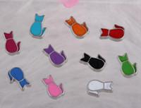 Floating Medaillons Charms Emaille Katze Vintage Silber für Glass Living Memory schwimmende Medaillon Mix Design verschiedene Charms DIY Legierung Zubehör