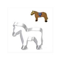 1 قطعة حار بيع جديد جميل الحصان شكل قوالب البسكويت القاطع أدوات خبز دائم الصلب ديي