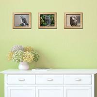 Новое прибытие Сова с имитацией кадра наклейки на стены декор 3 шт. за комплект симпатичные совы стены искусства плакат модные и новинка сова обои
