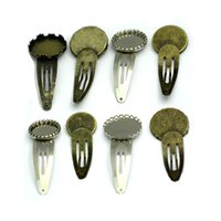 빈 쟁반과 둥근 꽃 머리핀 클립 비즈 보석 헤어핀 비즈 핀 비즈 패션 핀 32182