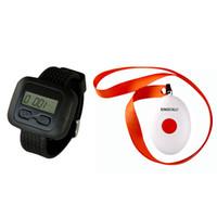 SINGCALL.Wireless Nursing Call Paging System für Restaurants, Krankenhäuser, Cafés, 1 Uhrenempfänger mit Klingelknopf, APE6600-APE160