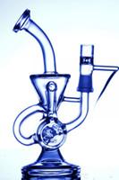 2019 vente chaude double recycleur bong scientifique phonix verre bongs klein vapeur recycleur huile plate-forme plate verre bangs tuyaux d'eau pouls bio dab verre verre