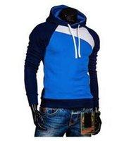 Yeni Eğlence erkek Hoodies Patchwork Renkler Uyuk Moda erkek Eşofman Tişörtü Kapşonlu Erkek Mont Kazak Ceketler