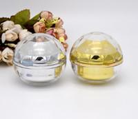 30g leere luxus diamantkugel acryl creme container gold augencreme probe kosmetik glas, kosmetik Verpackung topf # 0319