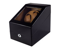 DHL / Fedex / UPS trasmette la scatola di orologio di lusso di legno di orologio di 4 colori Avvolgitore automatico rotante dell'orologio che gira la visualizzazione di vernice lucida del piano