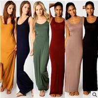 2017 섹시한 Bodycon 복장 사탕 색깔 여름 패션 여성 클럽 야간 파티 드레스 스커트 민소매 Bangage 맥시 롱 드레스 A21