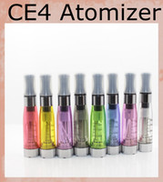 CE4 Atomizer 1.6ml Cigarette électronique CE4 Cleaomizer vapore tank e-cig 8 couleurs 510 thread pour ego Evod batterie AT010