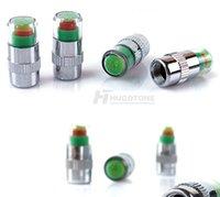 정확한 디스플레이 자동차 타이어 압력 모니터 도구 자동 타이어 밸브 캡 센서 키트 2.2 / 2.4 / 2.6 막대 감지 표시기
