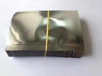 бесплатная доставка 200 шт. / лот 6*9 см с открытым верхом покрытие алюминиевой фольги мешок Термосварочный пластик алюминиевой фольги вакуумный мешок чай порошок упаковка мешок