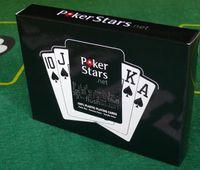 2015 HOT (10 mazos / 1 lote) Plastic Playing Card Pokers para PVC Pokers Rojo, Negro