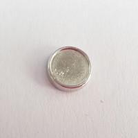 8mm interno / 10mm diametro esterno argento cerchio bianco impostazione Charms galleggianti per i vostri medaglioni Charms foto fai da te per fare gioielli