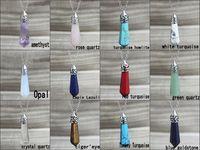 Lotti all'ingrosso 14 colori Druzy Drusy Druzzy Chakra Point pietra preziosa pendente Charms di guarigione cristallo quarzo opale ametista malachite