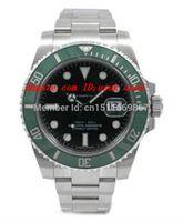 جديد أعلى جودة الفاخرة ساعة اليد الياقوت الأسود الهاتفي الأخضر الحافة السيراميك 116610 16610 الفولاذ المقاوم للصدأ التلقائي رجل الرجال مشاهدة الساعات